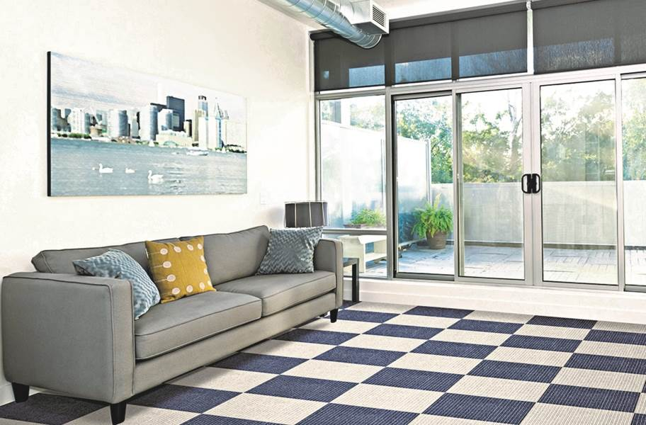 Impressions Carpet Tiles - Denim and Dove