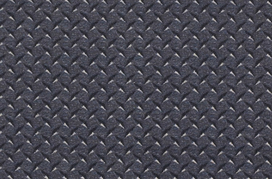 Joy Carpets Diamond Plate Carpet - Steel Blue
