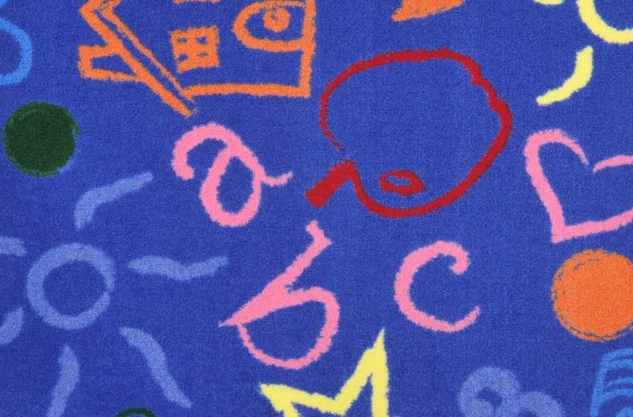 Joy Carpets Kid's Art Carpet - Rainbow