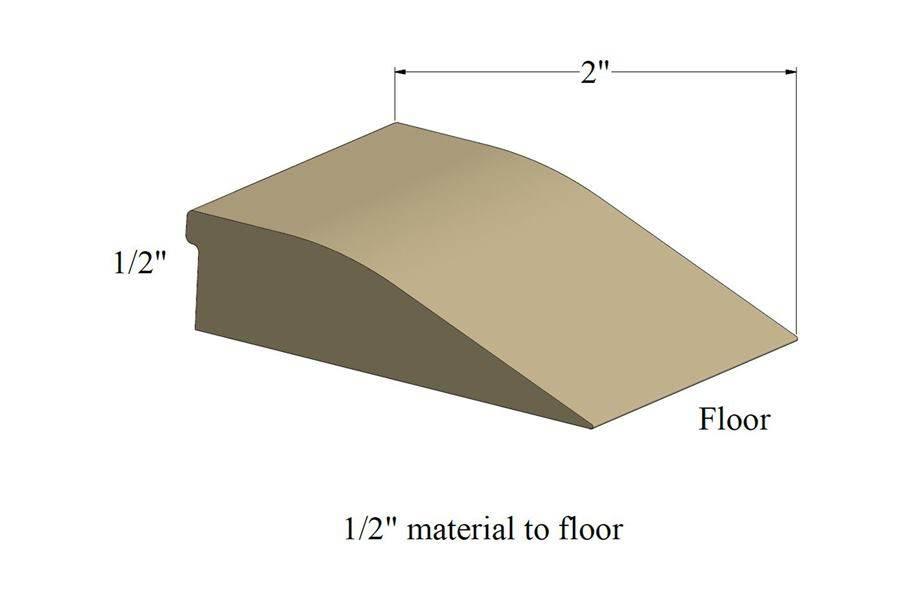 """1/2"""" Rubber Floor Ramps"""