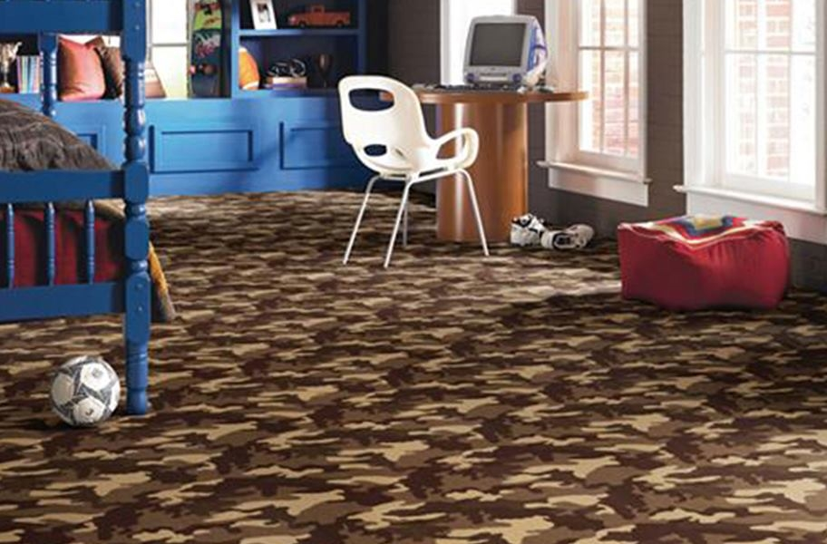 Shaw Camouflage Carpet - Take Cover