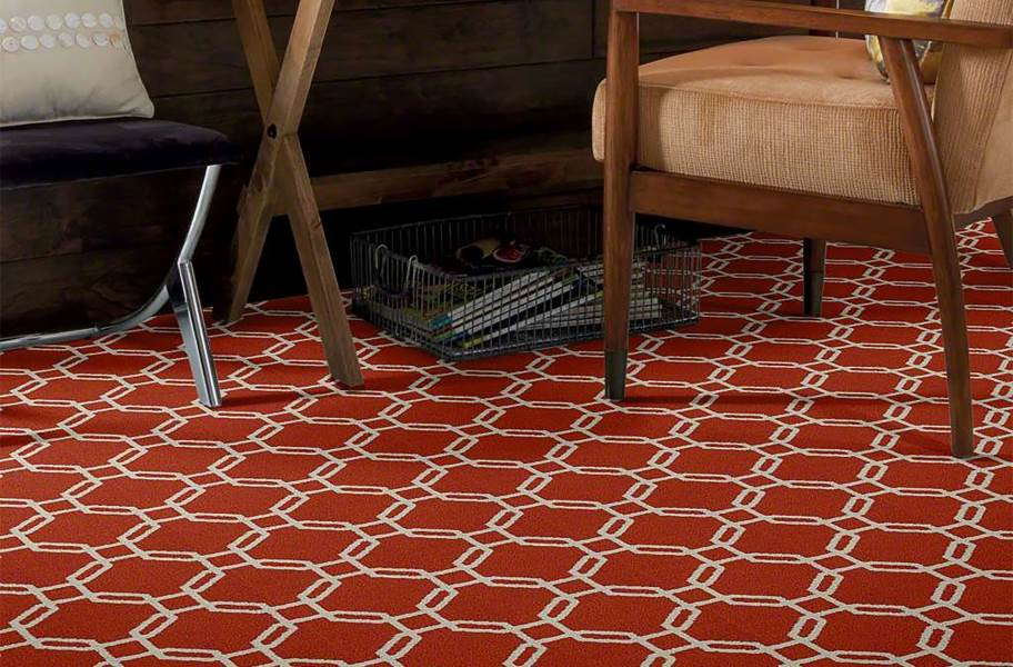 Shaw Defined Beauty Waterproof Carpet - Coral