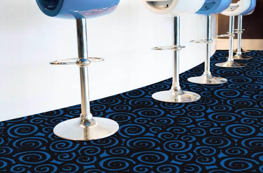 Joy Carpets Neon Lights Nebula Tile - Under natural light