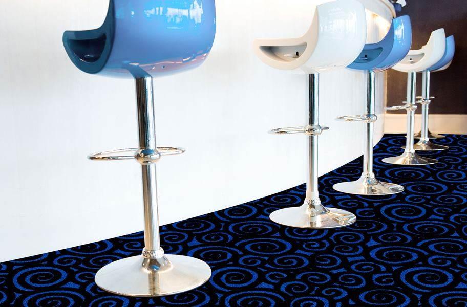 Joy Carpets Neon Lights Nebula Tile - Under black light