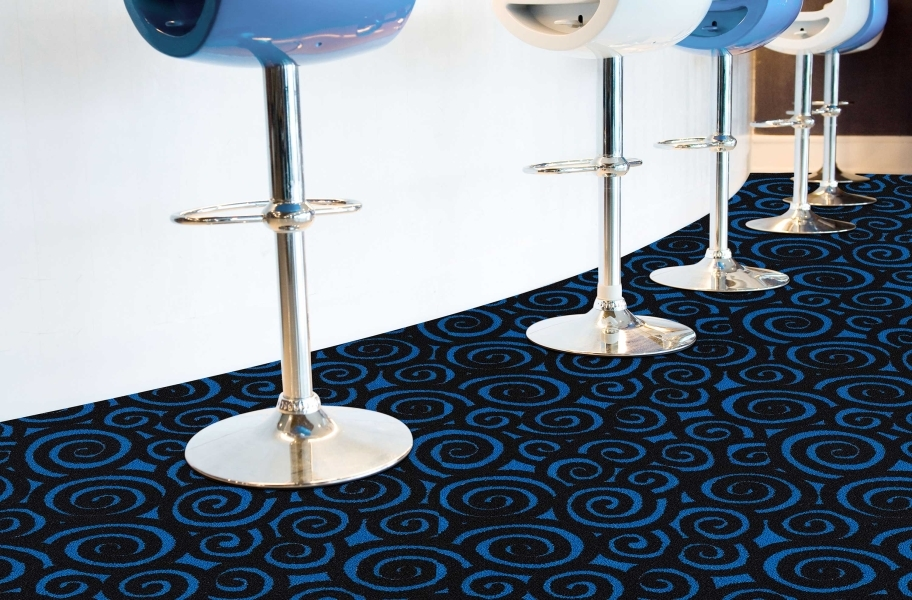 Joy Carpets Neon Lights Nebula Tile - Under natural light