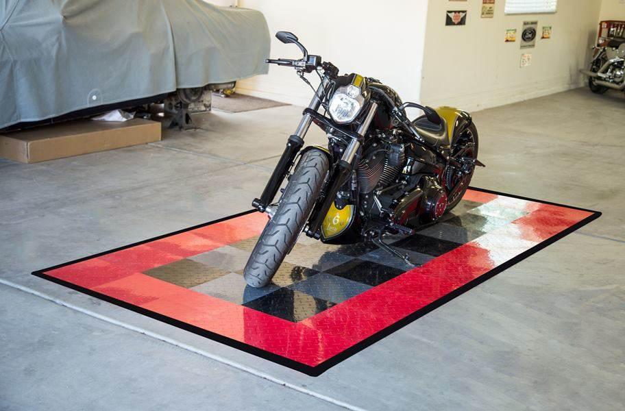 Diamond Nitro Tile - Motorcycle Mats