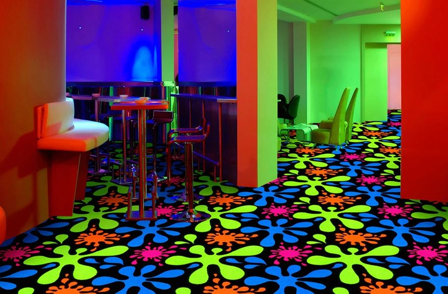 Joy Carpets Neon Lights Carpet - Splat