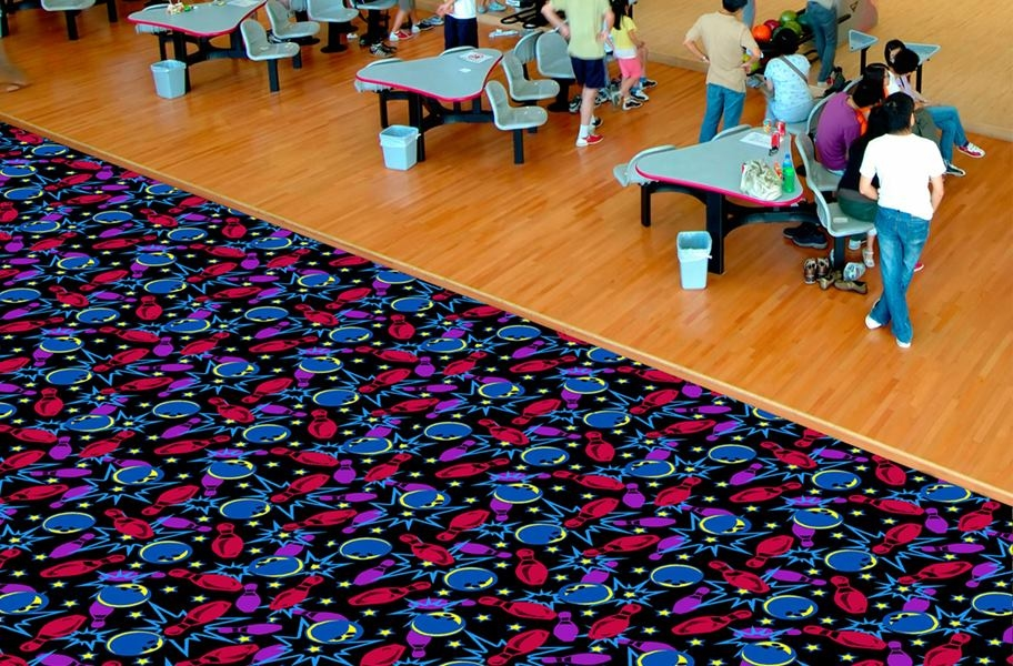 Joy Carpets Neon Lights Carpet - Retro Bowl