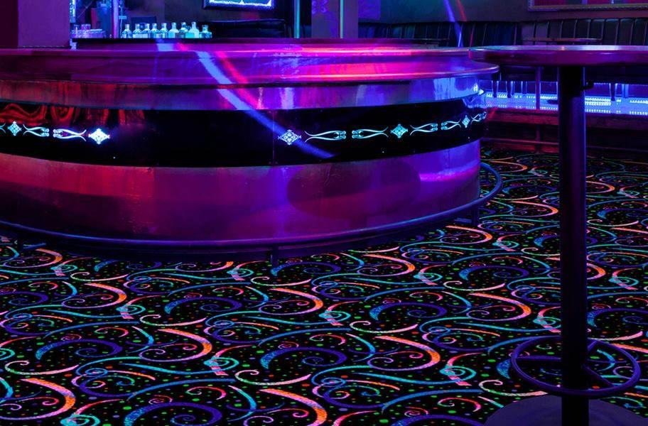 Joy Carpets Neon Lights Carpet - Dynamo - Under Fluorescent Lighting