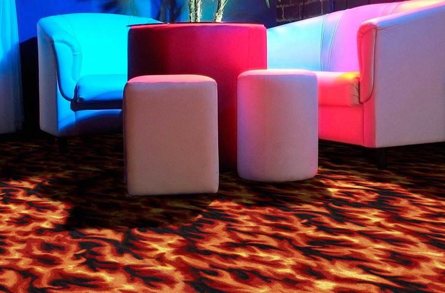 Joy Carpets Neon Lights Carpet - Inferno - Under Standard Lighting