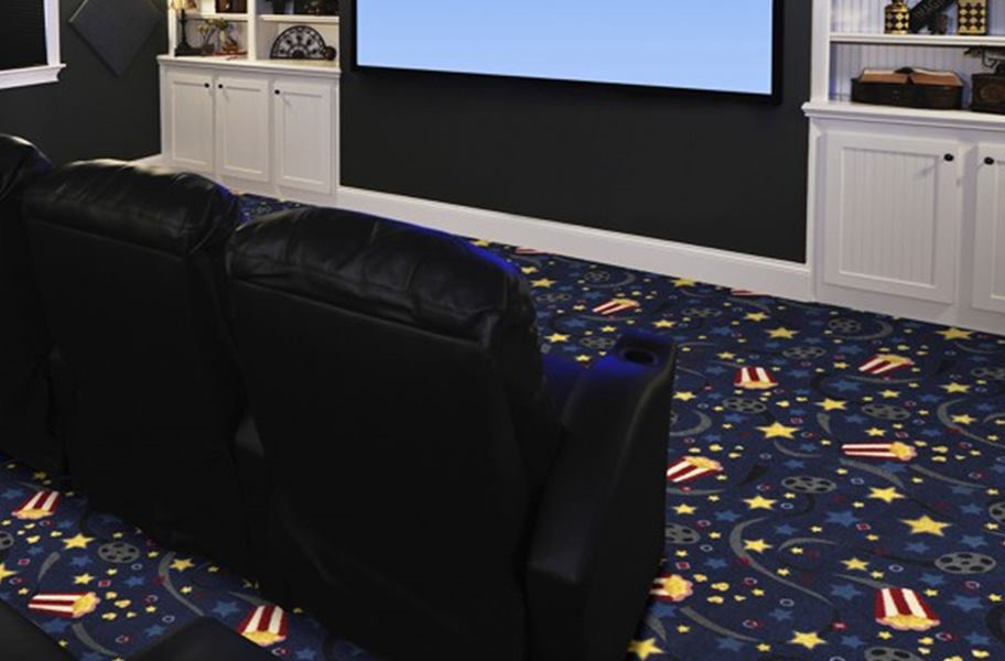 Joy Carpets Feature Film Carpet - Navy