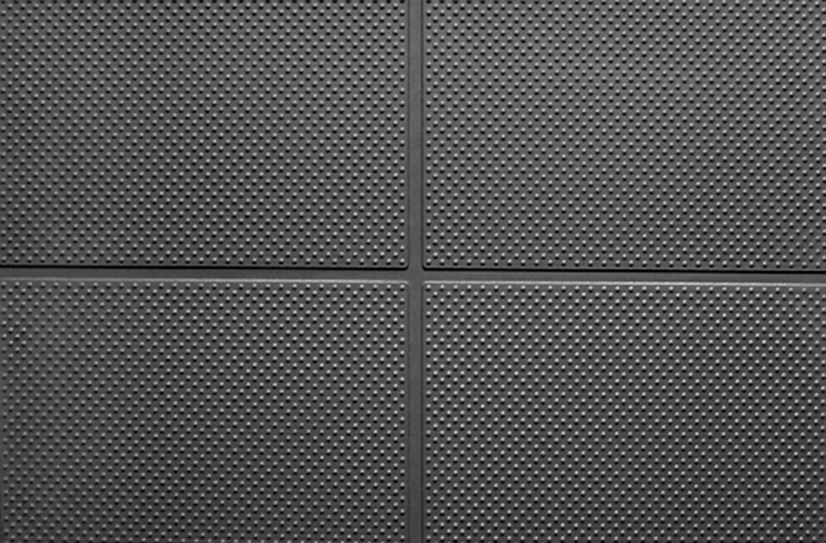 "9/16"" Aerobic Lock Virgin Rubber Tiles - Black"