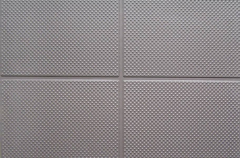 "9/16"" Aerobic Lock Virgin Rubber Tiles - Slate Gray"