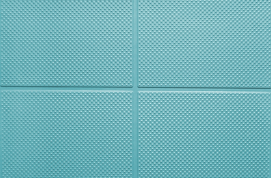 "9/16"" Aerobic Lock Virgin Rubber Tiles - Teal"