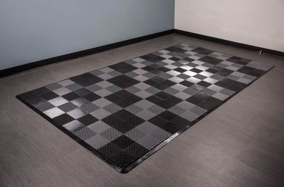 Vented Nitro Tile - Motorcycle Mats - Black / Graphite
