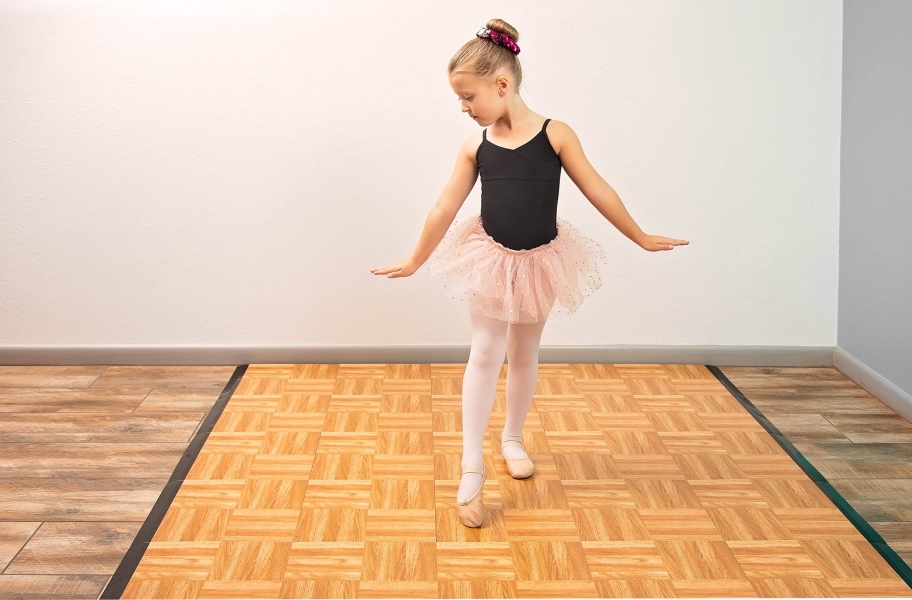 Practice Dance Tile Kits - Oak 5x5