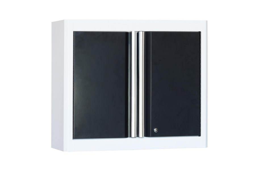American Heritage 2-Door Wall Cabinet - White/Charcoal