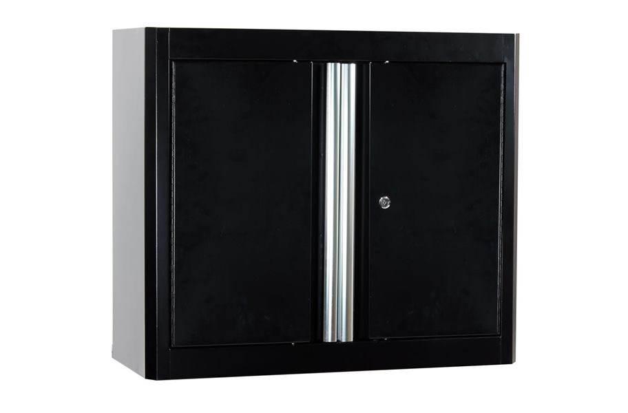 American Heritage 2-Door Wall Cabinet - Black/Black
