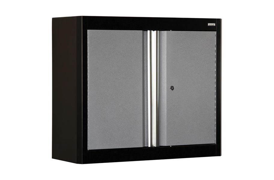 American Heritage 2-Door Wall Cabinet - Black/Multi Granite