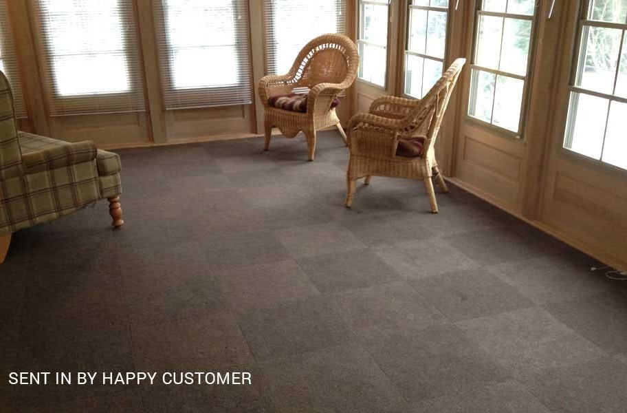 Ribbed Carpet Tile - Designer - Chestnut