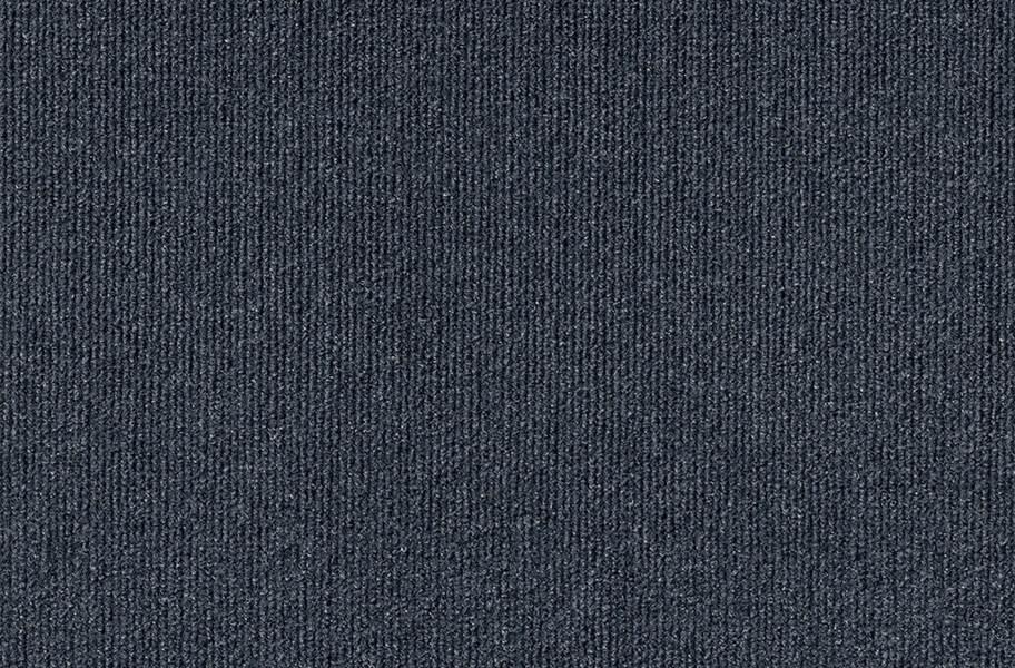 Ribbed Carpet Tile - Designer - Ocean Blue