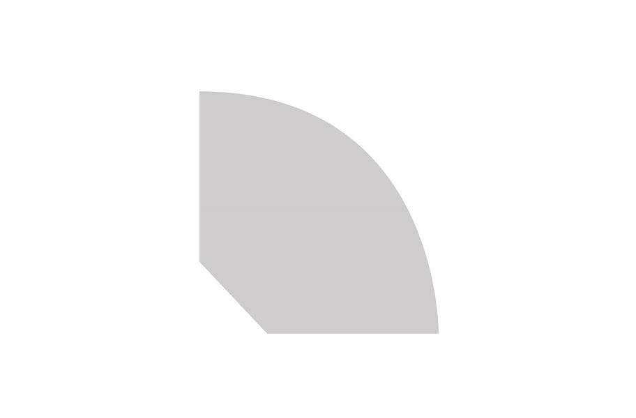 "Roppe #350V Flexible 1/2"" x 120' Quarter Round"