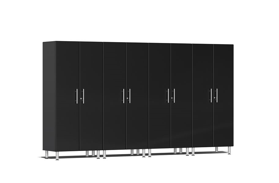 Ulti-MATE Garage 2.0 Series 4-PC Tall Cabinet Kit - Midnight Black Metallic