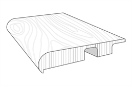 "Windwood 3/4"" x 2"" x 94"" Stair Nose"