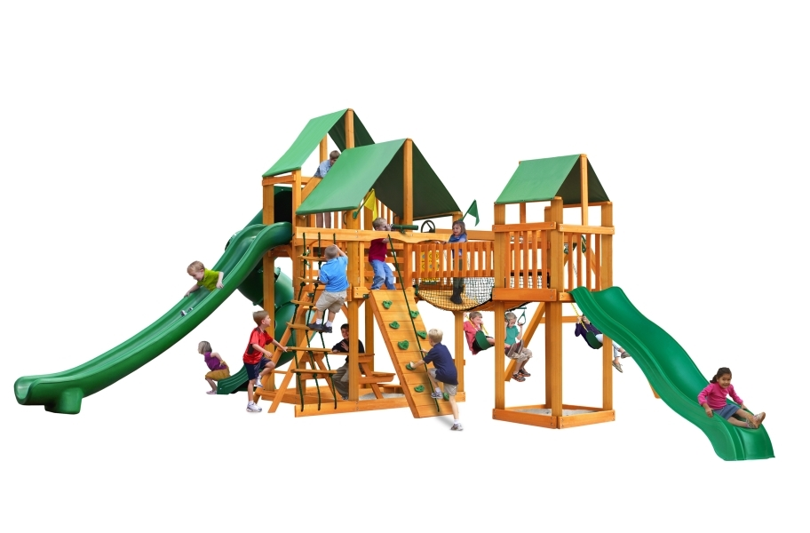 Treasure Trove II Playhouse - Deluxe Green Canopy