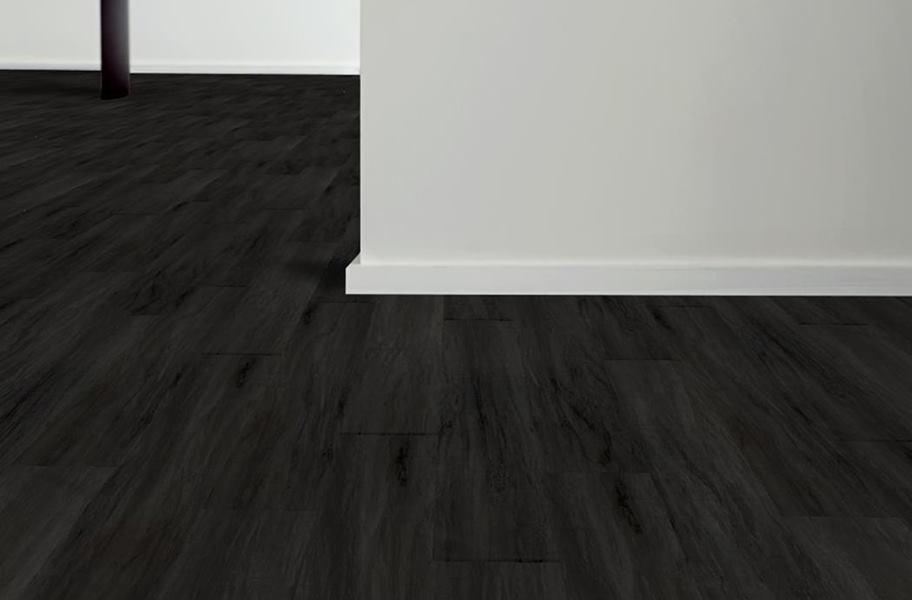Aged Wood Vinyl Planks - Handscraped Black