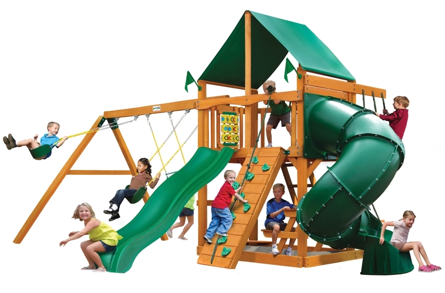 Mountaineer Playset - Deluxe Green Vinyl Canopy