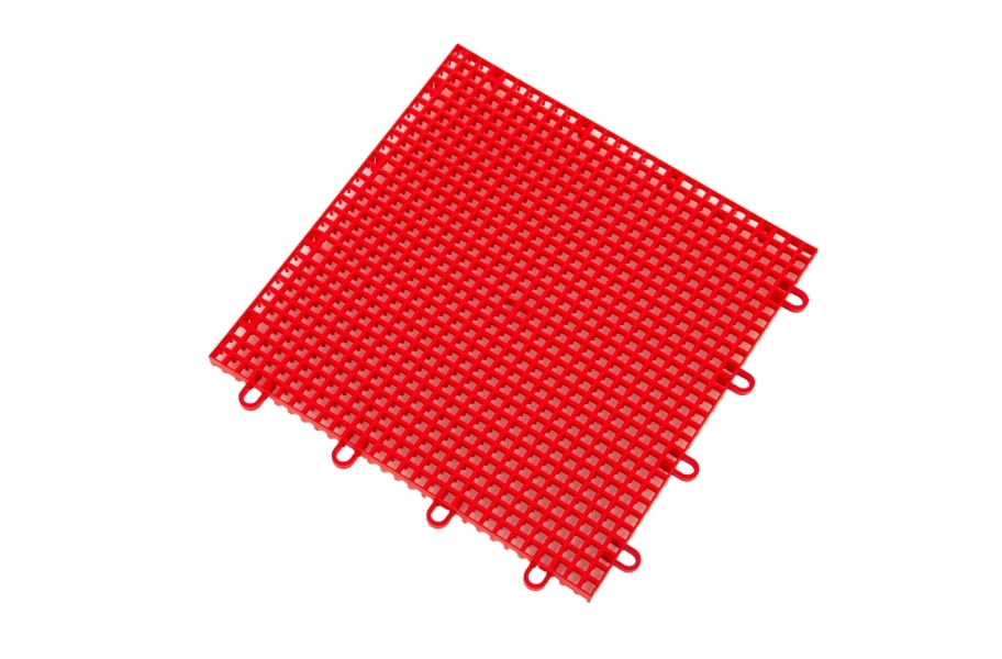 Outdoor Tennis Court Kit - 60' x 120' - Victory Red