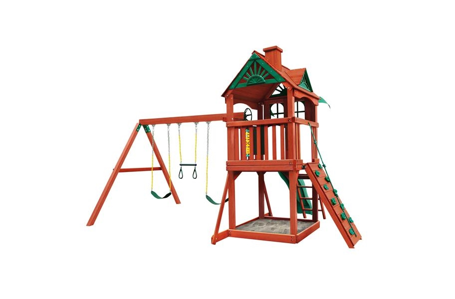 Five Star II Wooden Swing Set - Five Star II Wooden Swing Set without Monkey Bars