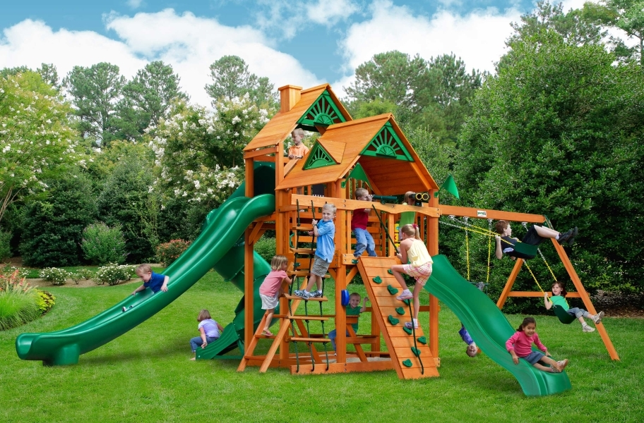 Great Skye II Playhouse - Great Skye II Playhouse with Canvas Forest Green Canopy