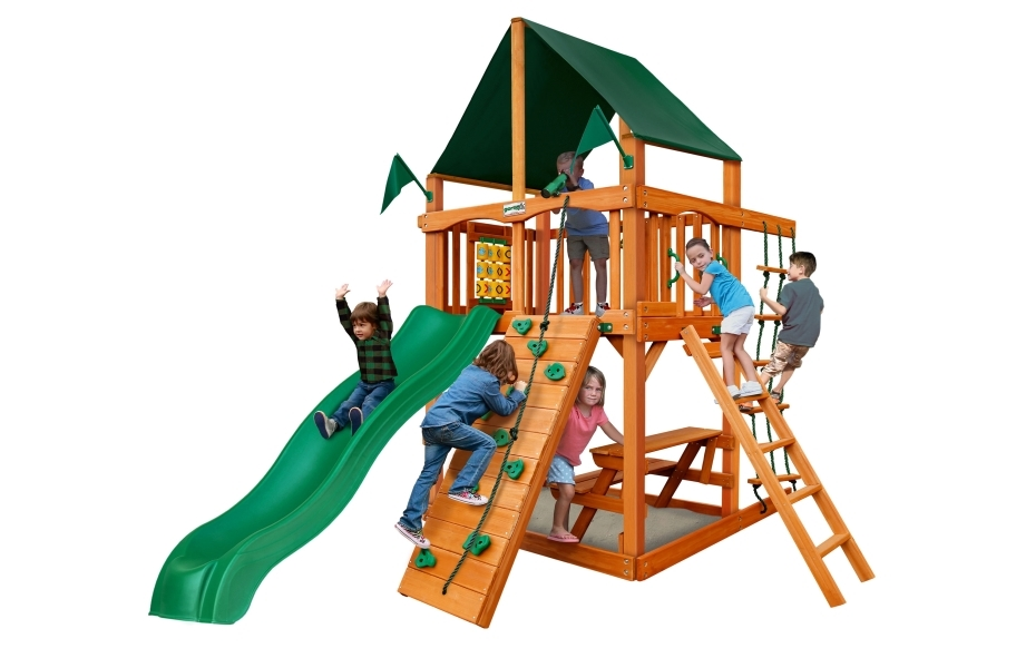 Chateau Tower Playset - Forest Green Canopy