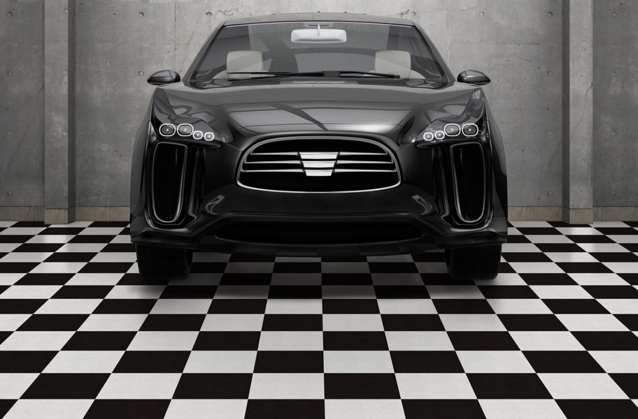 Soda Shoppe Flex Tiles - Black and Orange