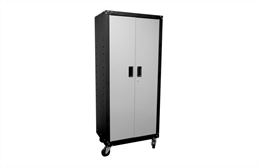 Homak 2-Door Tall Mobile Cabinet w/Shelves