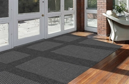 Pindot Charcoal Indoor/Outdoor Area Rug