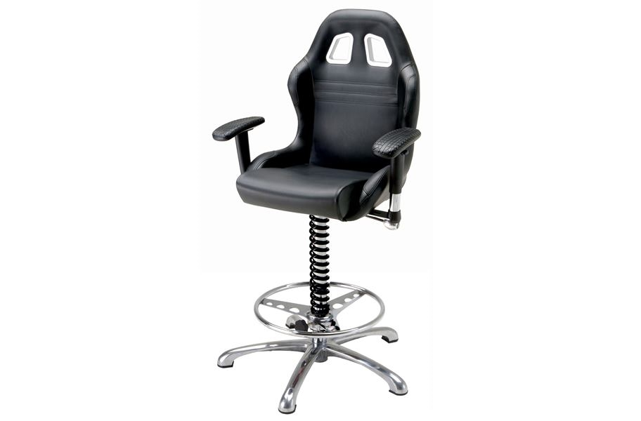 PitStop Crew Chief Bar Chair - Black