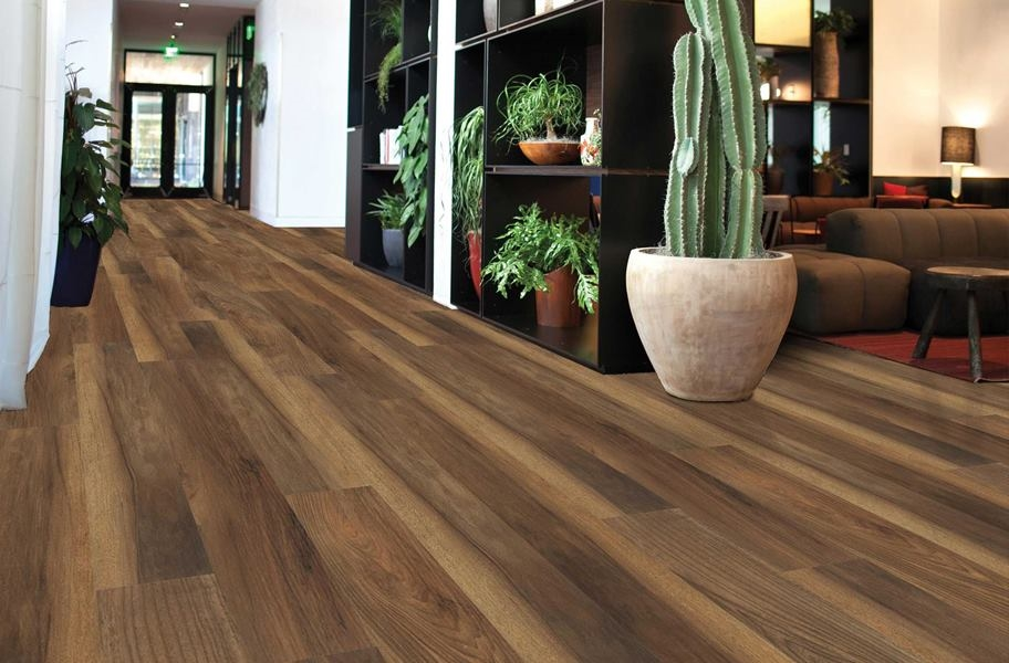 Shaw Transcend Rigid Core Planks - Smokehouse