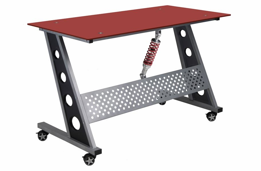 PitStop Compact Desk - Red