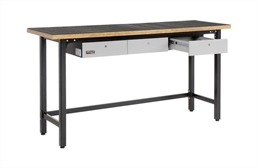 Homak Wood Top Steel Workbench