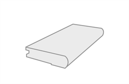 "Pebble Hill 3/8"" x 2-3/4"" x 78"" Flush Stair Nosing"