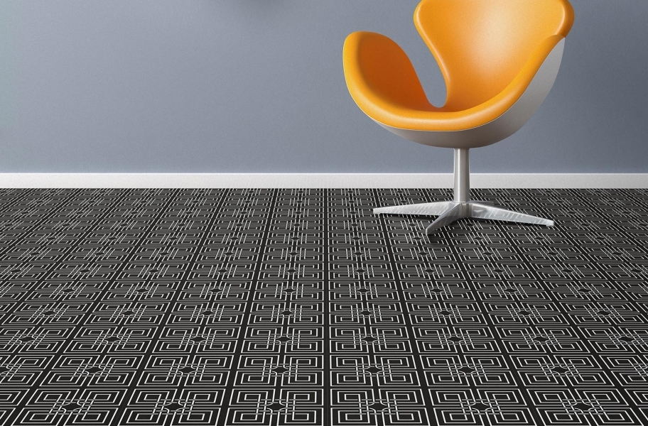 Geo Flex Tiles - Master Knot Black