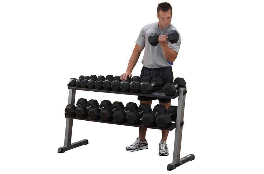 Body-Solid 2 Tier Horizontal Dumbbell Rack