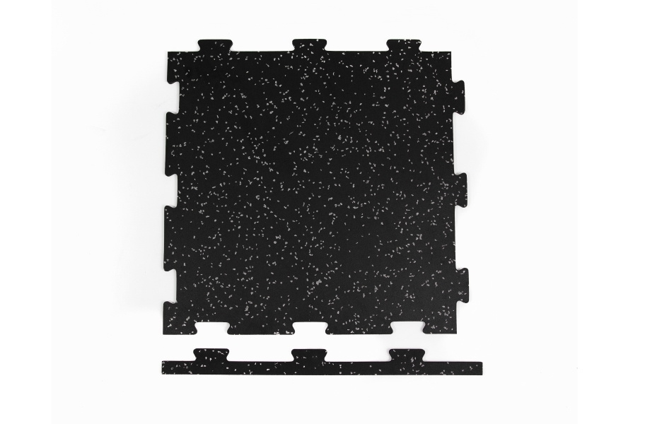 8mm Titan Rubber Tile 4-Pack - Border Tile