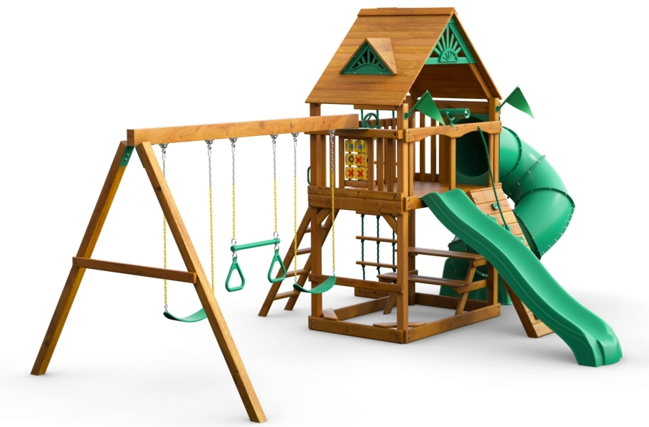 Mountaineer Playset - Standard Wood Roof