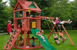 Nantucket Wooden Swing Set