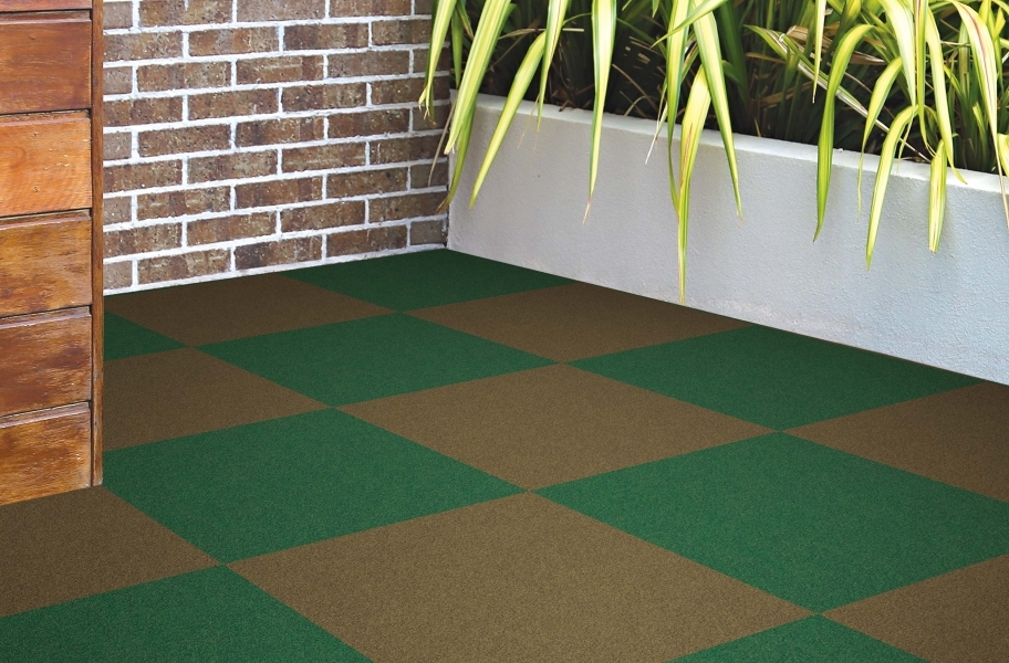 Tuff Turf Peel & Stick Tiles - Pecan