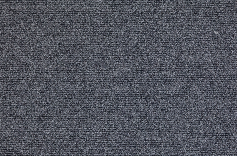 Premium Ribbed Carpet Tiles - Sky Grey
